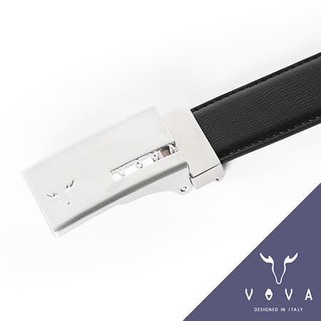 VOVA 字母鏤空造型雙面紳士皮帶(亮銀色) VA001-010-NK