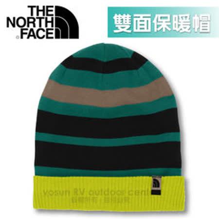 【美國 The North Face】新款 雙面針織保暖帽.羊毛帽.保暖針織帽.保暖舒適_A6W8 亮芥末黃