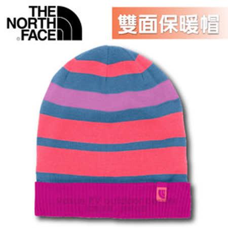 【美國 The North Face】新款 雙面針織保暖帽.羊毛帽.保暖針織帽.保暖舒適_A6W8 紫紅