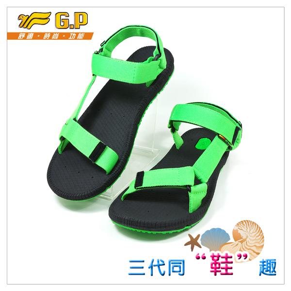 ~G.P 休閒涼鞋~ G5931M~60 綠色  SIZE:40~43 共三色