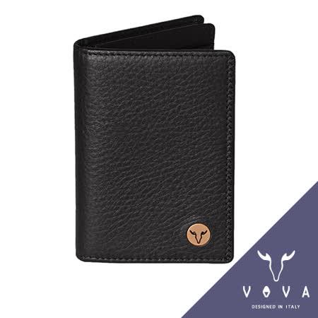 VOVA 當代系列3卡透明窗荔枝紋名片夾(黑色)VA102W010BK