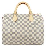 Louis Vuitton LV N41370 N41533 SPEEDY 30 白棋盤格紋手提包.現貨