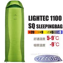 【義大利 FERRINO】新 LIGHTEC 1100 SQ 超輕透氣化纖睡袋(僅1100g.填充150g).收納小巧.立體隔間.防潑抗撕裂/D486203 草綠/橄綠