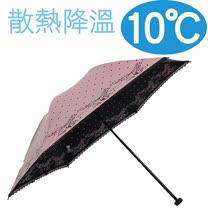 降溫10℃手開水玉玫瑰 【 蜜粉 】 輕量/遮陽傘/雨傘/雨具/晴雨傘◆日本雨之戀◆