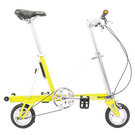 【CarryMe】 STD 8吋單速折疊小輪車 檸檬黃