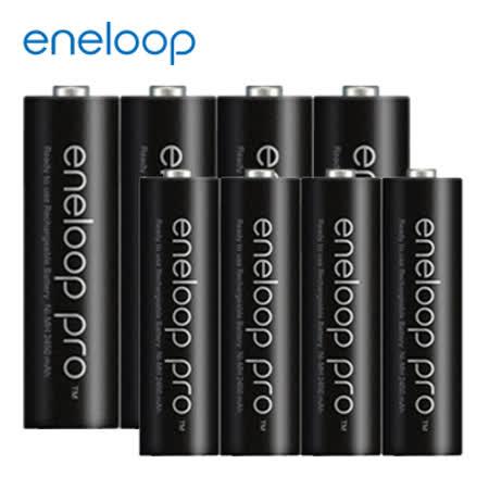 Panasonic國際牌 eneloop 高容量充電電池 - 3號4入+4號4入