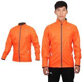 (男) PUMA 運動外套-立領外套 慢跑 路跑 風衣外套  橘銀