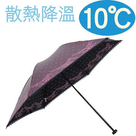 降溫10℃手開水玉玫瑰 【 葡萄紫 】 輕量/遮陽傘/雨傘/雨具/晴雨傘◆日本雨之戀◆