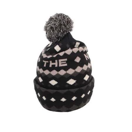 THE NORTH FACE 編織保暖帽-毛帽 毛線帽 淡棕黑 F
