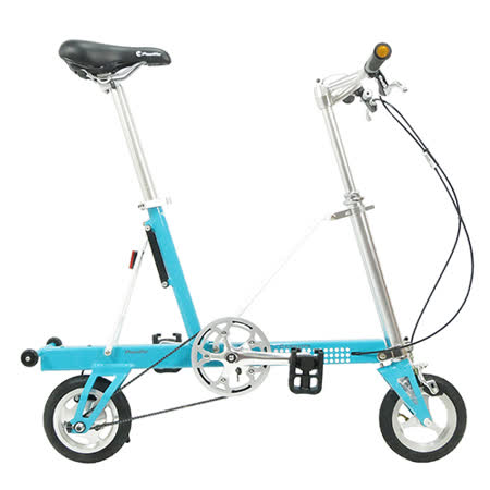 【CarryMe】 STD 8吋單速折疊小輪車 水藍色