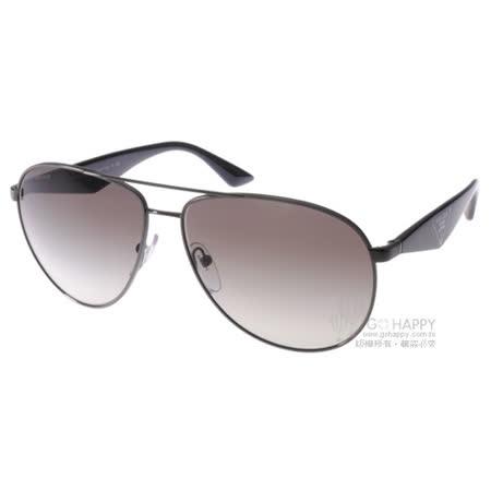 PRADA太陽眼鏡 百搭飛官款(銀灰-黑) #SPR53Q 5AV0A7