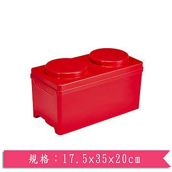 DOLEDO 積木整理箱淺二圓-紅(7.5公升)