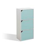 馬卡龍環保三門收納櫃-藍