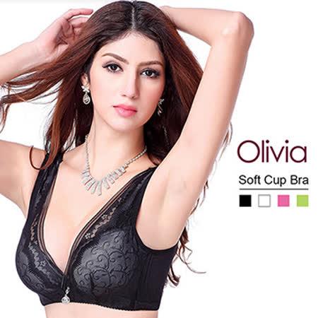【Olivia】3D無鋼圈聚攏型深V內衣-黑色