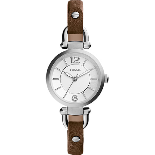 FOSSIL Georgia Artisan 仕女腕錶~銀x咖啡26mm ES3861