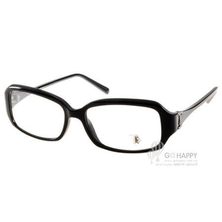 TOD'S眼鏡 時尚復古小方框款(黑) #TOD5031 001
