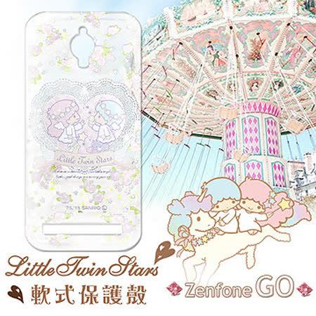 三麗鷗授權正版 Little Twin Stars KiKiLaLa ASUS ZenFone Go ZC500TG 透明軟式保護套 手機殼 (天使雙子星)