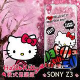 三麗鷗授權正版 Hello Kitty 凱蒂貓 Sony Xperia Z3 透明軟式保護套 手機殼 (糖果HI)