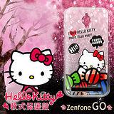 三麗鷗授權正版 Hello Kitty 凱蒂貓 ASUS ZenFone Go ZC500TG 透明軟式保護套 手機殼 (糖果HI)