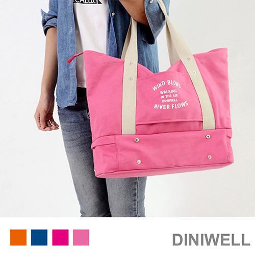 ~ ~DINIWELL旅行多 衣物、鞋子、拉桿收納單肩收納包~粉紅~