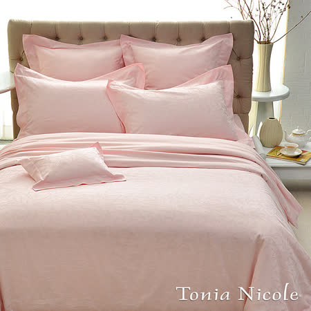 Tonia Nicole東妮寢飾克莉絲蒂古典緹花4件式被套床包組-粉紅(特大)