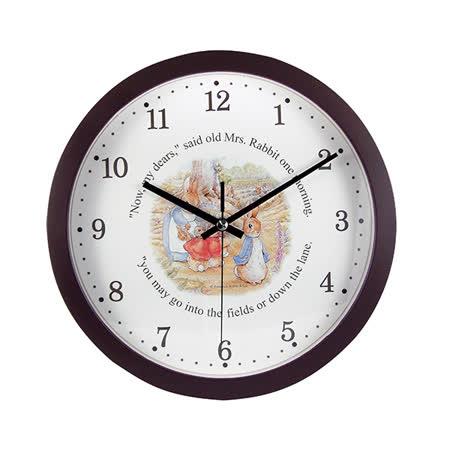 【クロワッサン科羅沙】Peter Rabbit~ 經典比得兔靜音時鐘(圓型) 399537*