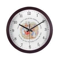 【クロワッサン科羅沙】Peter Rabbit~ 經典比得兔圓型掛式時鐘 399537