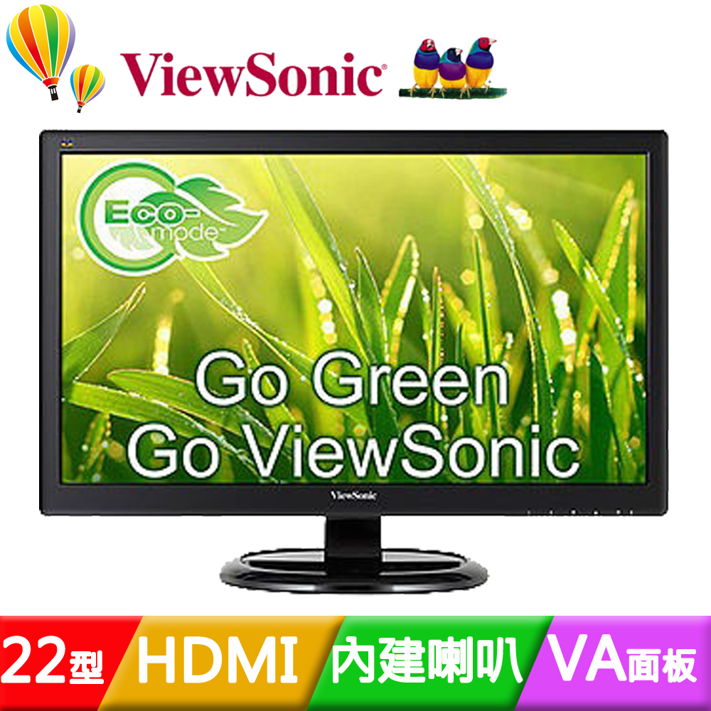 ViewSonic 優派 VA2265Smh 22吋雙介面液晶螢幕