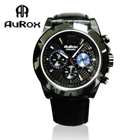 【開箱心得分享】gohappy快樂購物網AuRox歐銳時 英倫紳士三眼計時陶瓷不鏽鋼石英計時腕錶(AR1102-黑陶)推薦統一 阪急
