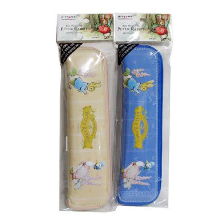 【クロワッサン科羅沙】Peter Rabbit~ 經典比得兔 PR 餐具袋大(藍.米)398943