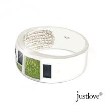 【justlove璀璨配飾】綠光森林開運琥珀純銀戒指贈禮盒(RN-1002)