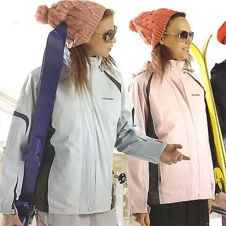【義大利DIADORA】女版休閒功能性二件式網裡(外套+鋪棉雙面穿背心)(淺水藍/淺粉兩款)