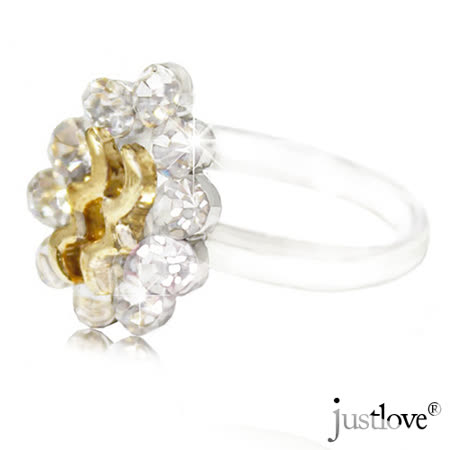 【justlove璀璨配飾】施華洛世奇晶鑽可調戒圍戒指贈禮盒(共2色)RN-1116