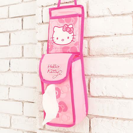 HELLO KITTY 直式可吊掛面紙盒收納袋