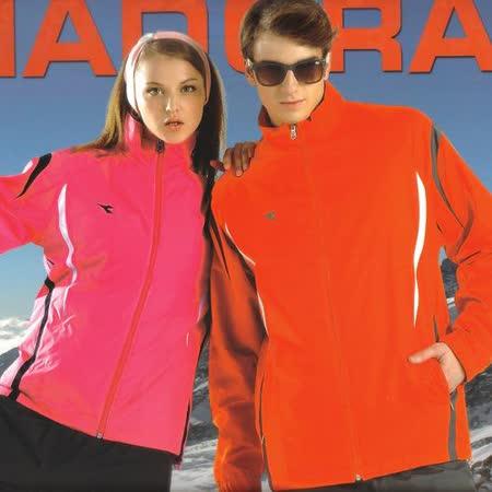 義大利DIADORA】男女運動休閒功能性二件式(網裡外套+雙面穿鋪棉背心)(粉紅/橘兩款)