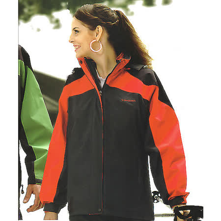 義大利 DIADORA女版運動休閒二件式(外套+雙面穿背心)-灰/紅