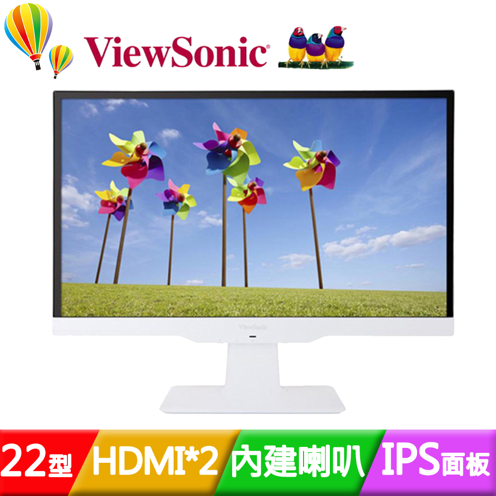 ViewSonic 優派 VX2263Smhl~W 22型IPS雙HDMI液晶螢幕