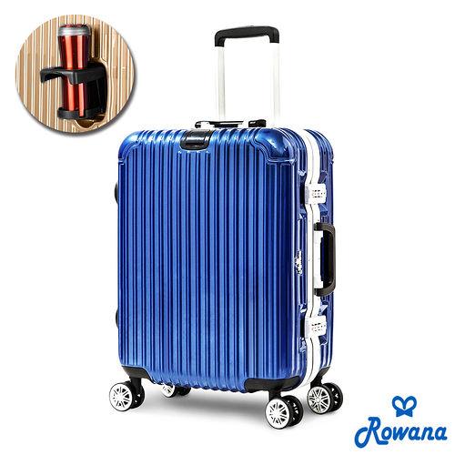 Row基隆 愛 買 地址ana 凍結時空掛扣PC鏡面鋁框行李箱 21吋 (藍色)