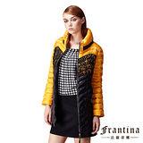 【法蘭蒂娜】立體壓紋繡花舖棉長版外套