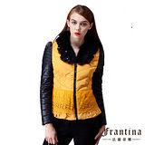 【法蘭蒂娜】貂毛立體壓紋繡花鋪棉外套 - 二色