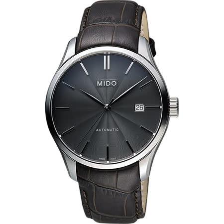 MIDO Belluna II Gent 經典機械腕錶-黑x咖啡/40mm M0244071606100