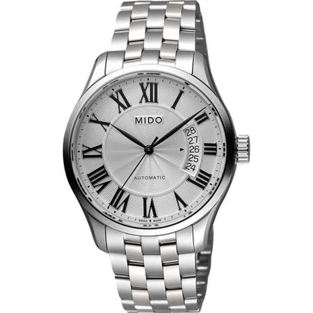 MIDO Belluna II Gent 羅馬機械腕錶-銀/40mm M0244071103300