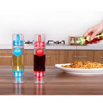 【JANOSENO】按壓式雙頭醬油調味料噴瓶/控油小油壺-3入