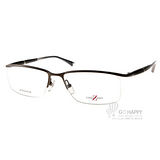 CHARMANT-Z眼鏡 紳士眉框款(霧古銅) #CZT19812 BR