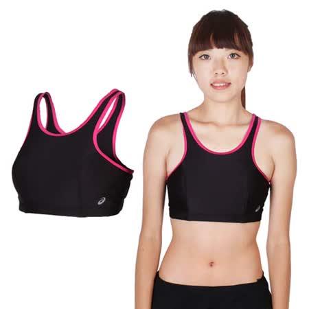 (女) ASICS 運動內衣-慢跑 路跑 瑜珈 有氧 韻律 挖背 運動背心 黑桃紅
