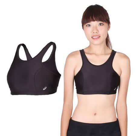 (女) ASICS 運動內衣-慢跑 路跑 瑜珈 有氧 韻律 挖背 運動背心 黑