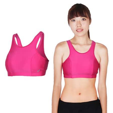 (女) ASICS 運動內衣-慢跑 路跑 瑜珈 有氧 韻律 挖背 運動背心 桃紅