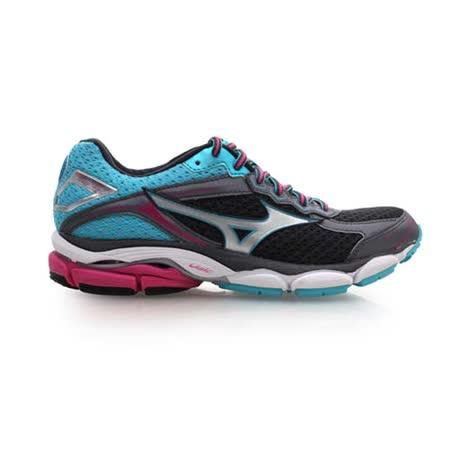 (女) MIZUNO WAVE ULTMA 7 慢跑鞋- 路跑 美津濃 黑銀藍