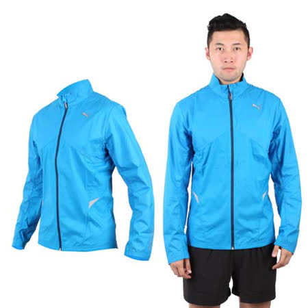 (男) PUMA NIGHTCAT 外套- 立領 風衣 慢跑 路跑 寶藍銀