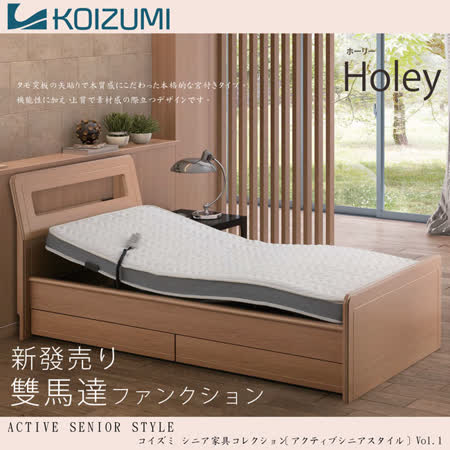 【KOIZUMI】機能電動床組-Holey雙馬達